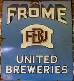 Old Frome United Breweries Plaque Stock Photo