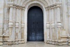 The old front door. Old door in old building Stock Photo