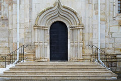 The old front door. Old door in old building Royalty Free Stock Images