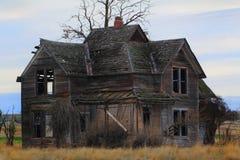 Old Frontier Farmhouse Stock Photo