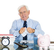 Old frustrated accountant Stock Image