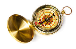 Old fshioned magnetic compass Stock Photo