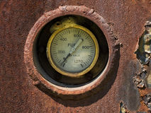 Old fuel Gauge Stock Photo
