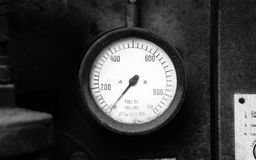 Old fuel gauge Stock Image