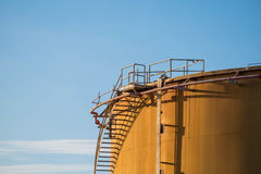 Old fuel oil storage tank in power plant Royalty Free Stock Photography