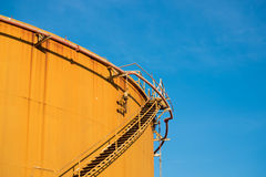 Old fuel oil storage tank in power plant Stock Photography