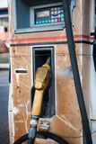 Old fuel pump at oil station; power transportation Stock Photography