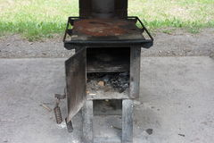 An old, functional wood-fed oven Stock Image