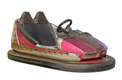 An old funfair bumper car. Also known as a dodgem car royalty free stock image