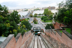 Old funicular in  Budapest Stock Photography