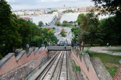 Old funicular in  Budapest Royalty Free Stock Image