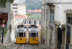 Old funicular Royalty Free Stock Photos