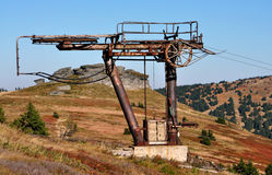 Old funicular railway, mountains Jeseniky, Czech Republic, Europe Stock Photography