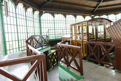 Old funicular station at Castle Hill. Budapest. Hungary. Royalty Free Stock Photography