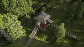 Old furnace. An old furnace from above, with some aerial photos royalty free stock photos