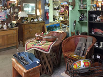 Old  furniture and furnishing selling Stock Photo