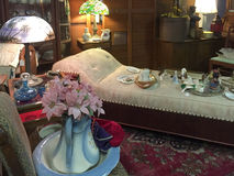 Old  furniture and furnishing selling at store. Old furniture and furnishing selling at   antique store, USA Stock Photos