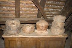 Old furnitures in Albe Alsace museum France. July 29 2009 Albé Alsace France stock images