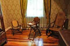 Old furnitures at Historical German Museum of Valdivia, Chile Royalty Free Stock Image