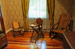 Old furnitures at Historical German Museum of Valdivia, Chile Royalty Free Stock Photos