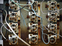 Old fuse box Royalty Free Stock Image