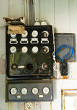 Old fuse box in a abandoned house Stock Photography