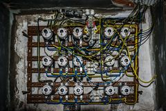 Old fuse box Royalty Free Stock Images