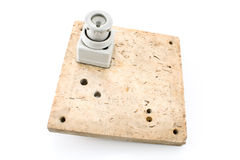 Old fuse on marble panel Royalty Free Stock Image