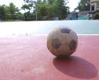 Old futsal ball Stock Photography