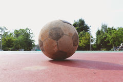 Old futsal ball Royalty Free Stock Images