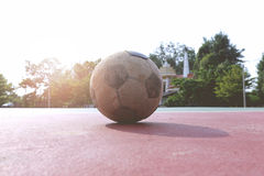 Old futsal ball Royalty Free Stock Photos