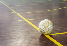 Old futsal court Stock Photography