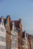 Old gables in the historic center of Lubeck. Germany Royalty Free Stock Photo