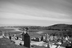 Old gaelic graveyard in Kincasslagh county Donegal Stock Photo