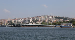 Old Galata Bridge in Golden Horn, Istanbul Royalty Free Stock Photo