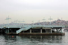 Old Galata Bridge, image of Istanbul Royalty Free Stock Photo