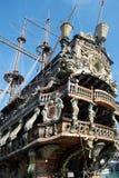 Old galeon, Genova. Detail of Il Galeone Neptune ship, Genoa, Italy royalty free stock photography