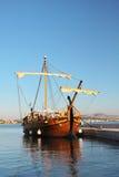 Old galleon. Historic galleon docked in port. Šibenik,Croatia stock photography