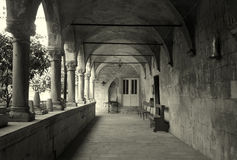 Old gallery in cloister - Trogir Royalty Free Stock Image