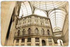 Old gallery naples Royalty Free Stock Images
