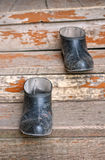 Old galoshes Stock Images
