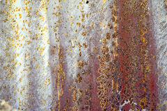 Old galvanize iron. Close up very old galvanize iron with rusty royalty free stock photography