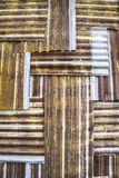 Old galvanized iron pattern Royalty Free Stock Photo