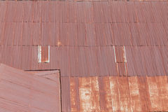 Old galvanized iron roof in Thailand Royalty Free Stock Photos
