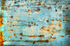 Old galvanized light blue as the background Royalty Free Stock Photography