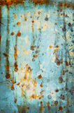 Old galvanized light blue as the background Royalty Free Stock Photo