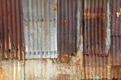 Old galvanized steel wall Royalty Free Stock Photo