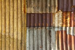 Old galvanized steel wall Stock Photography