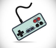 Old gamepad. Realistic  illustration Stock Image