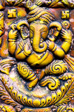 Old ganesha clay art Stock Photo